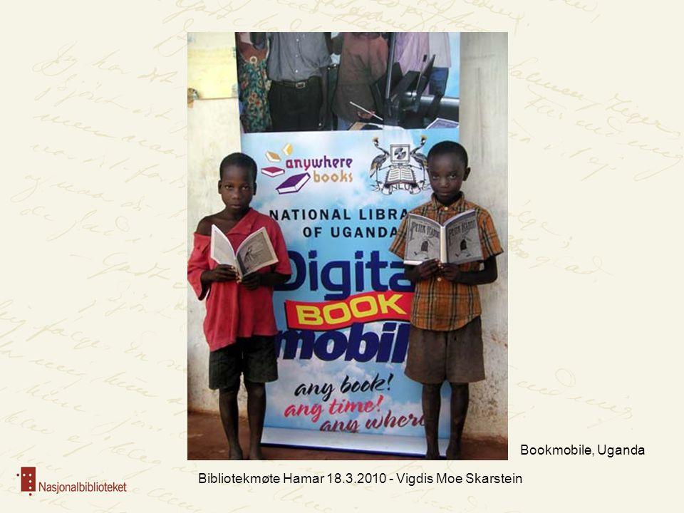 Bibliotekmøte Hamar 18.3.2010 - Vigdis Moe Skarstein Bookmobile, Uganda