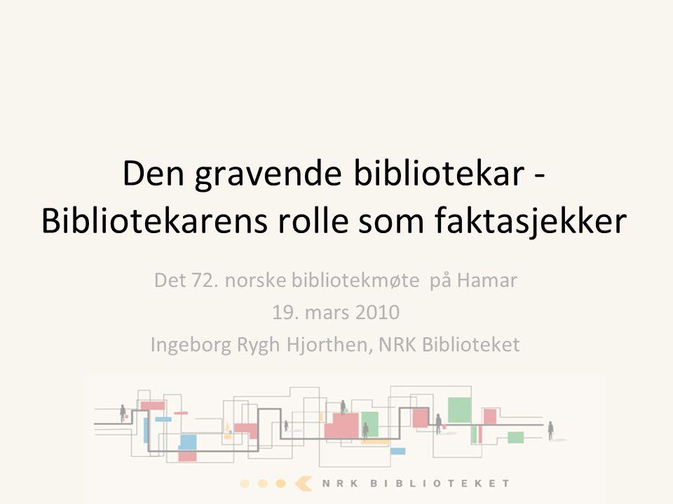 Det 72. norske bibliotekmøte på Hamar 19.