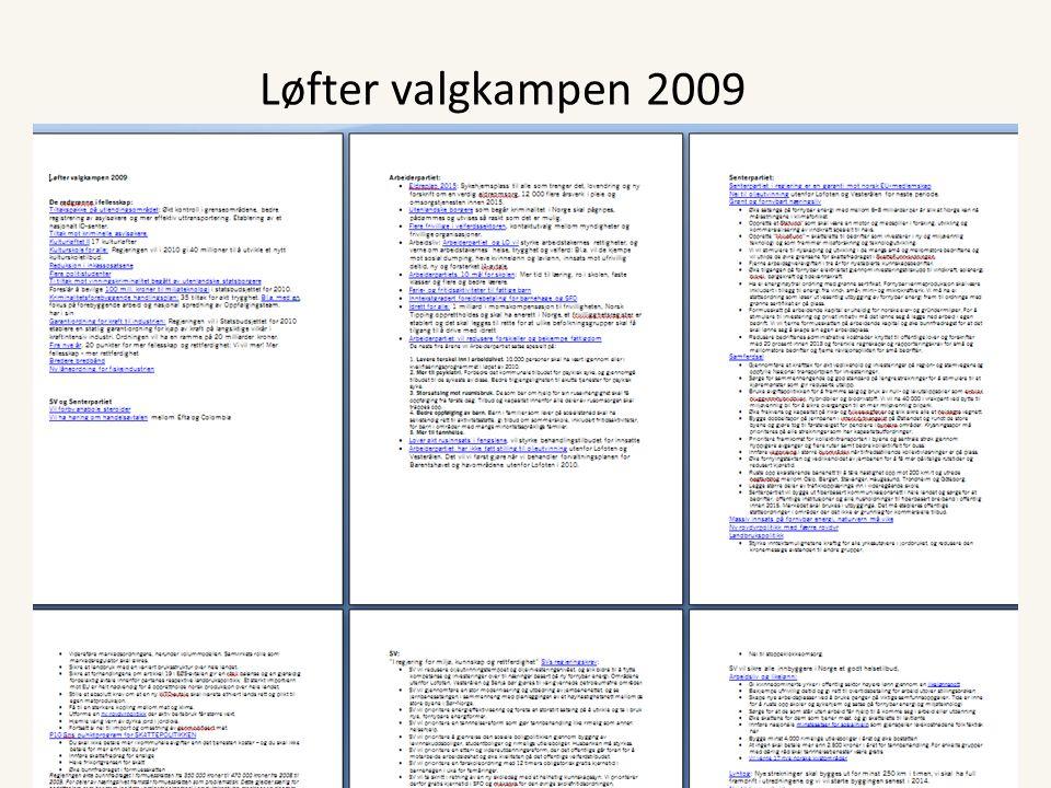 Løfter valgkampen 2009