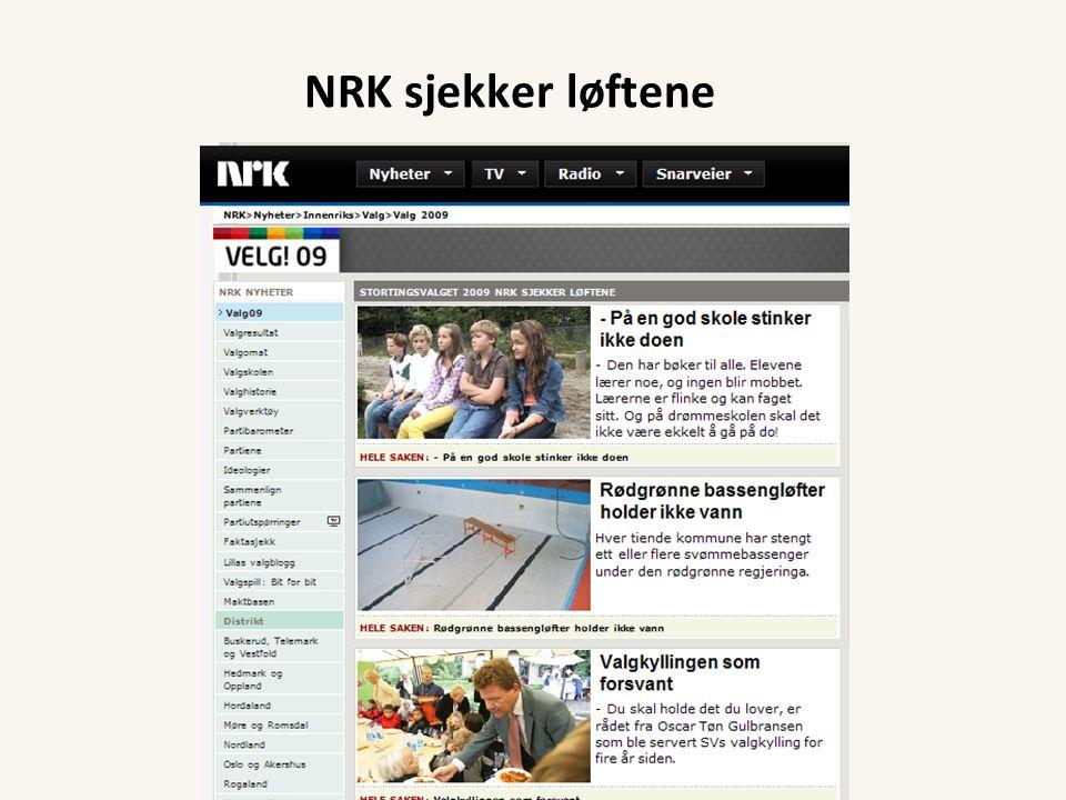 NRK sjekker løftene