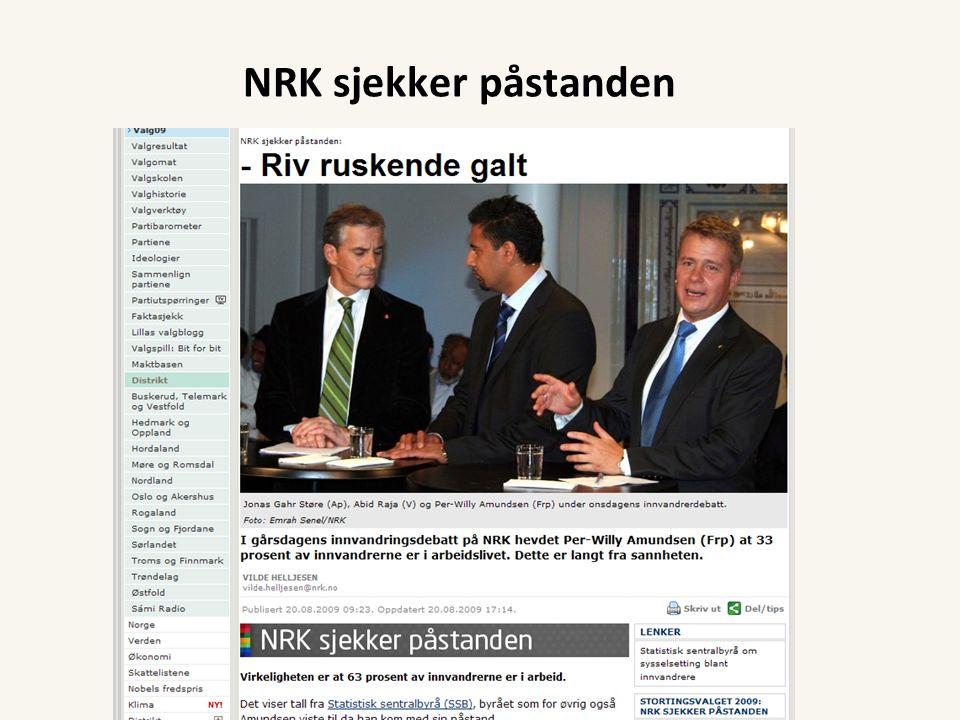 NRK sjekker påstanden