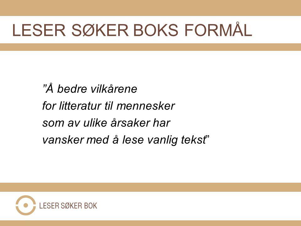 Samarbeid med 220 bibliotek BOK TIL ALLE-NETTVERKET AV BIBLIOTEK I NORGE: