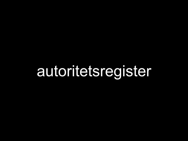 autoritetsregister