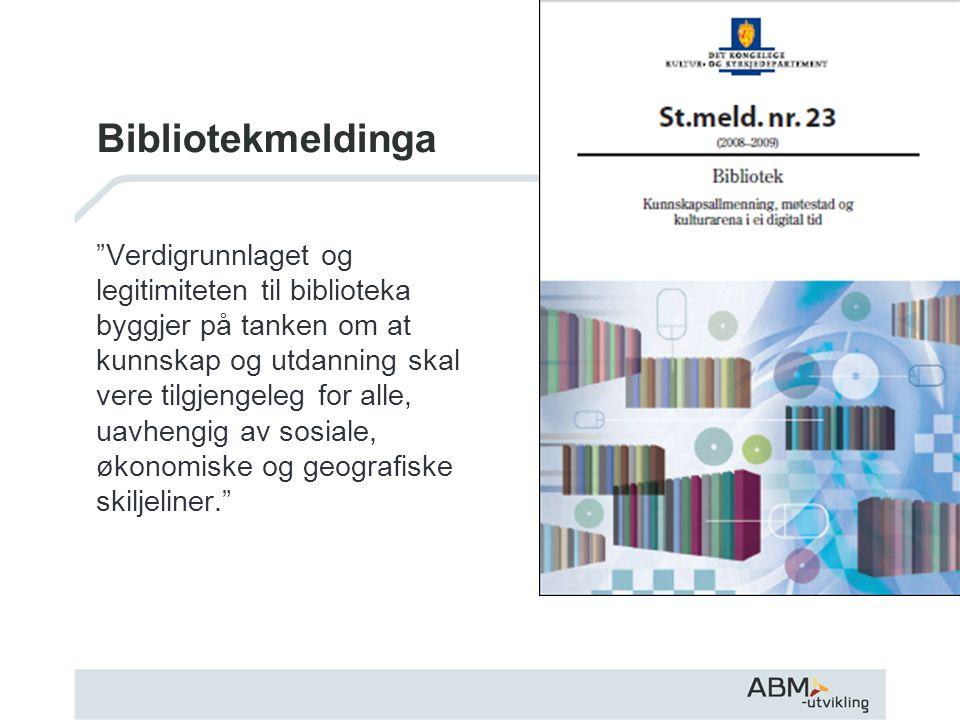 Nasjonale ambisjoner og lokal gjennomføringsevne Modellbibliotek Partnerskapsavtaler Leseår Kompetanseutvikling Prosjekter: - markedsføring av tjenestene - e-bøker