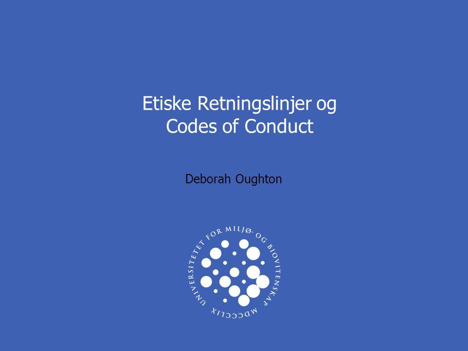 UNIVERSITETET FOR MILJØ- OG BIOVITENSKAP www.umb.no ETISKE RETNINGLINJER 3 ETIKK VED UMB - ARBEIDSOPPGAVER  ETISKE RETNINGSLINJER –Publikasjon og medforfatterskap (Vancouver-konvensjon) –Code of Conduct (alle ansatte) –Forskningsetiske retningslinjer (utkast til høring fra NENT)  INNSPILL –Andre satsningsområder.