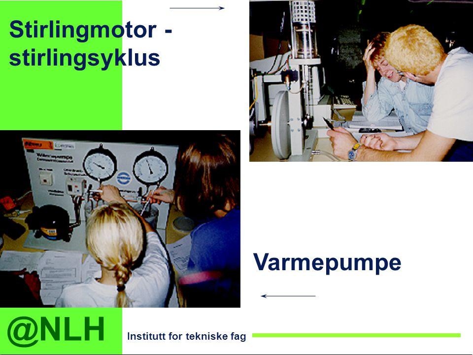 @NLH Institutt for tekniske fag Stirlingmotor - stirlingsyklus Varmepumpe