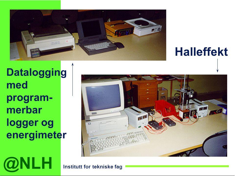@NLH Institutt for tekniske fag Halleffekt Datalogging med program- merbar logger og energimeter