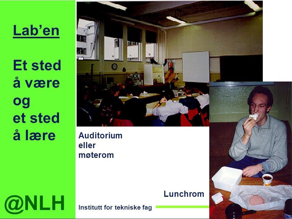 @NLH Institutt for tekniske fag Lab'en Et sted å være og et sted å lære Auditorium eller møterom Lunchrom