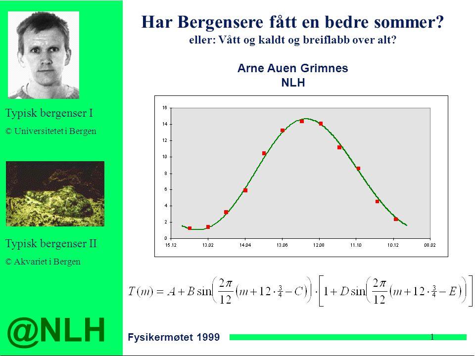 @NLH Fysikermøtet 1999 1 Har Bergensere fått en bedre sommer.