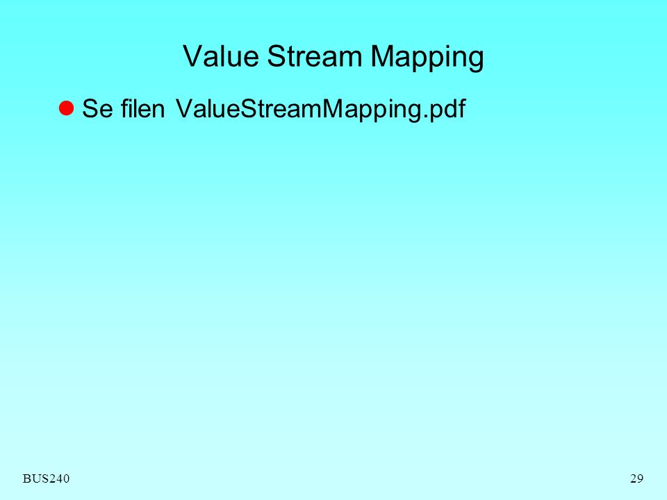 BUS24029 Value Stream Mapping Se filen ValueStreamMapping.pdf