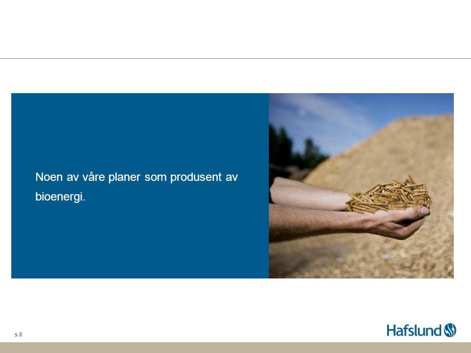 s.9 Vi bygger Europas største pelletsfabrikk Hafslund er majoritetseier i selskapet BioWood Norway som bygger Europas største pelletsfabrikk i Averøy ved Kristiansund.