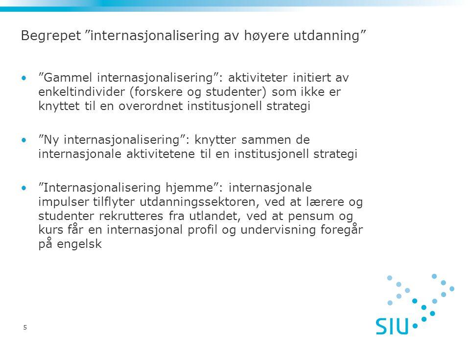 6 Statistikk om studentmobilitet Statistikkproblemer i forhold til inn-mobile studenter til Norge -Institusjonene rapporterer statsborgerskap -Statsborgerskap lite egnet til måle mobilitet i tid preget av migrasjon -Mange med utenlandsk statsborgerskap er bofaste i Norge -Anbefaling fra Unesco/OECD/Eurostat: registrering av foreldres faste bopel eller landet der videregående utdanning ble gjennomført God statistikk i forhold til gradsstudenter i utlandet (Lånekassen) Statistikk om utvekslingsstudenter: systematisk særlig fra 2000 (Lånekassen) God statistikk i forhold til Erasmus (SIU)
