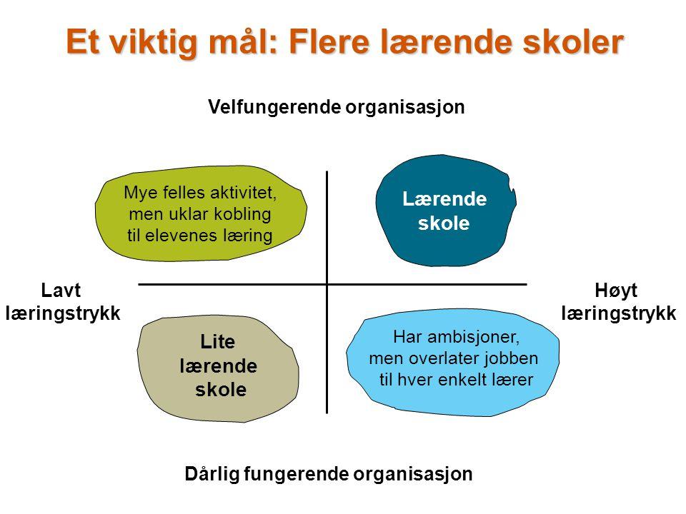 www.civita.no Høyt læringstrykk Velfungerende organisasjon Lærende skole Lite lærende skole Har ambisjoner, men overlater jobben til hver enkelt lærer