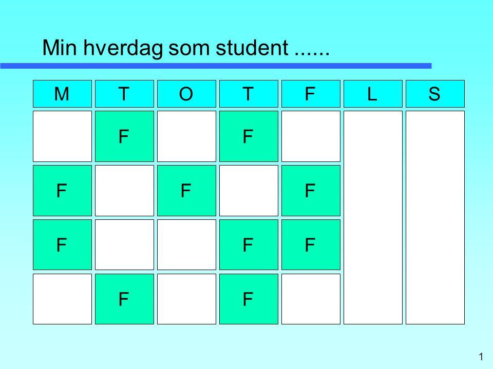 1 Min hverdag som student...... F M F F F F F F F FF TOTFLS