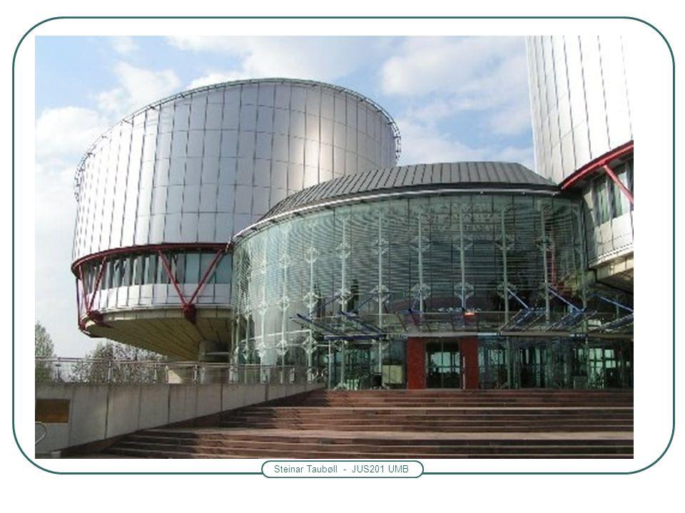 Steinar Taubøll - JUS201 UMB Kort om menneskerettigheter i norsk rett Menneskerettsloven av 21 mai 1999 nr. 30 -Inkorporerer flere internasjonale konv