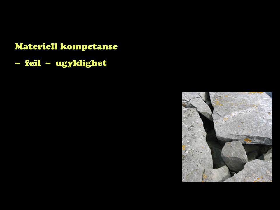 Materiell kompetanse – feil – ugyldighet