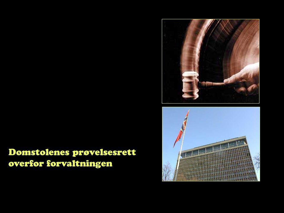 Domstolenes prøvelsesrett overfor forvaltningen