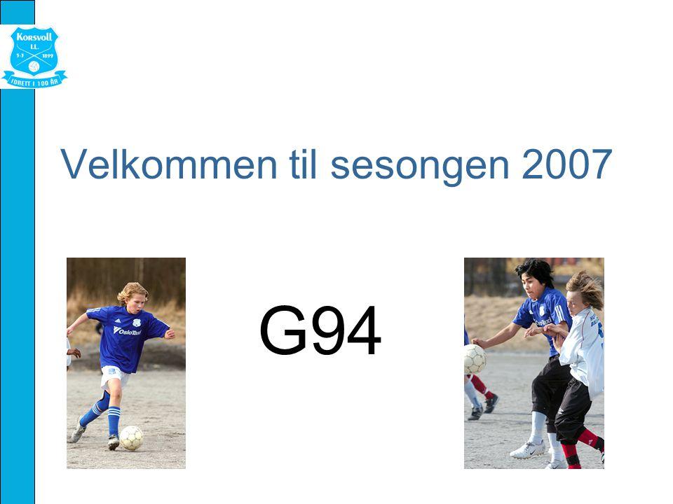 Velkommen til sesongen 2007 G94