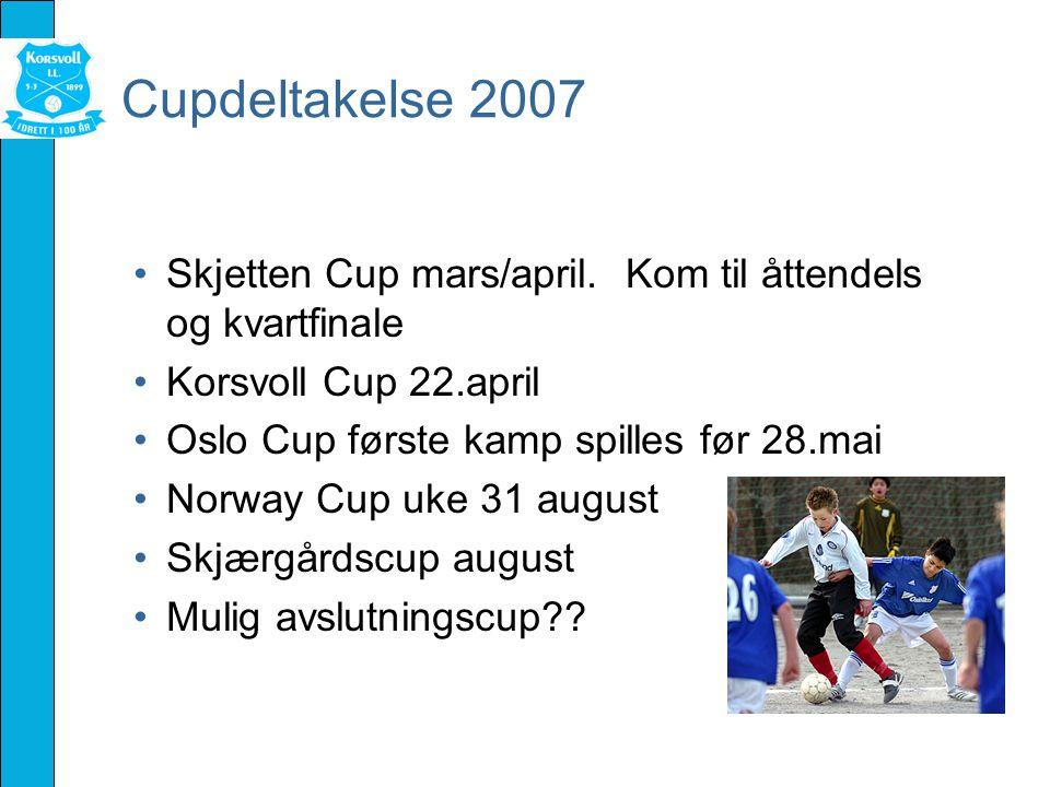 Cupdeltakelse 2007 Skjetten Cup mars/april.