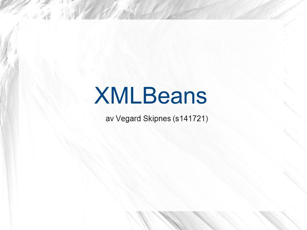XMLBeans av Vegard Skipnes (s141721)