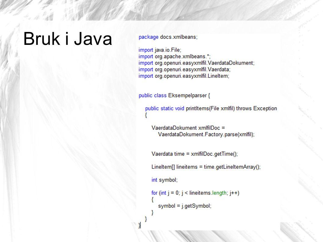 Bruk i Java