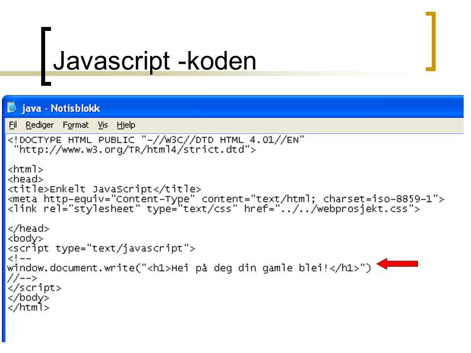 Kirsten Ribu - Webpublisering - HiO -200426 Javascript -koden