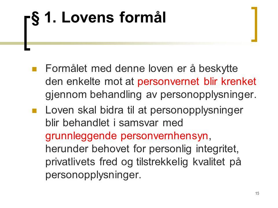 15 § 1.