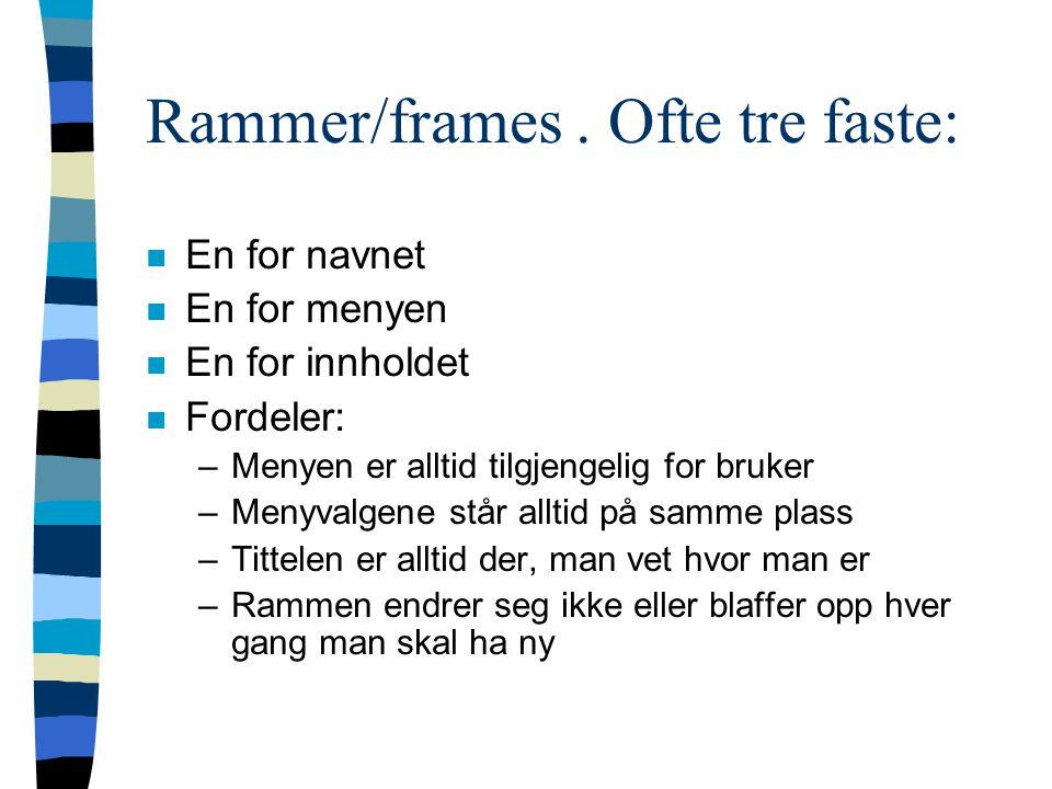 Rammer/frames.