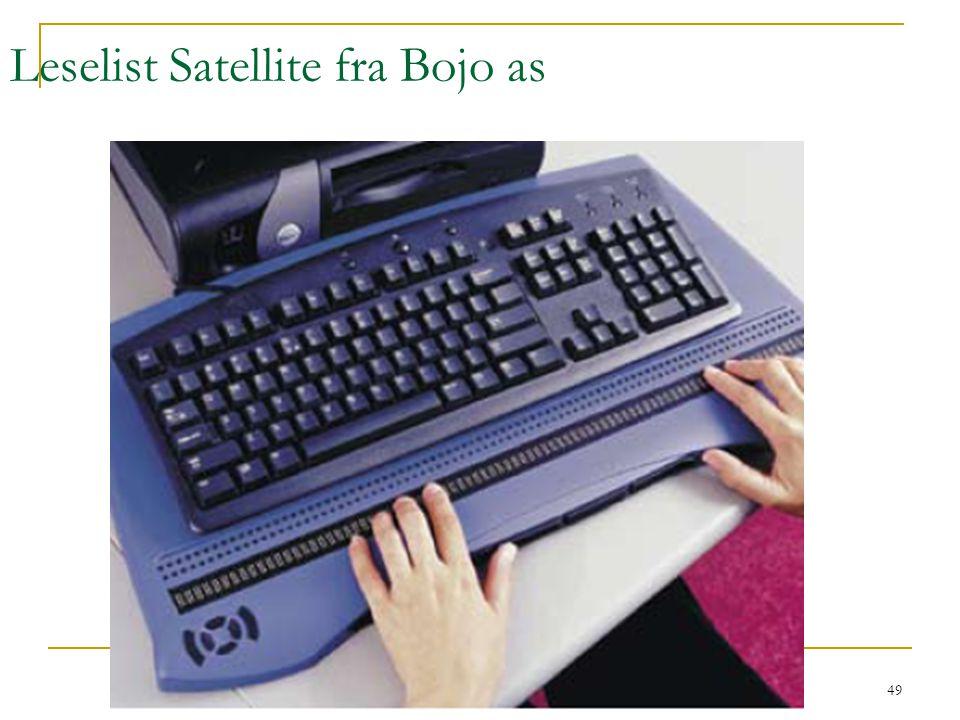 Kirsten Ribu HiO 2008 49 Leselist Satellite fra Bojo as