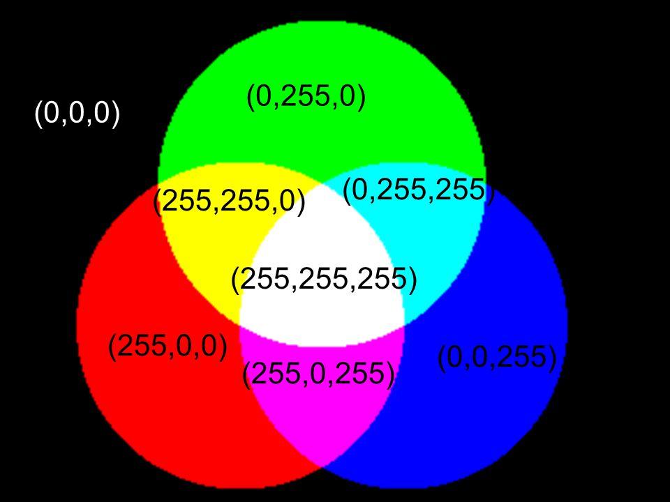 (0,0,0) (0,255,0) (255,0,0) (0,0,255) (255,255,255) (255,255,0) (0,255,255) (255,0,255)