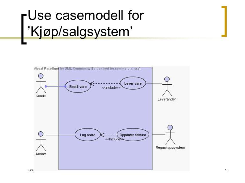 Kirsten Ribu HiO 200516 Use casemodell for 'Kjøp/salgsystem'