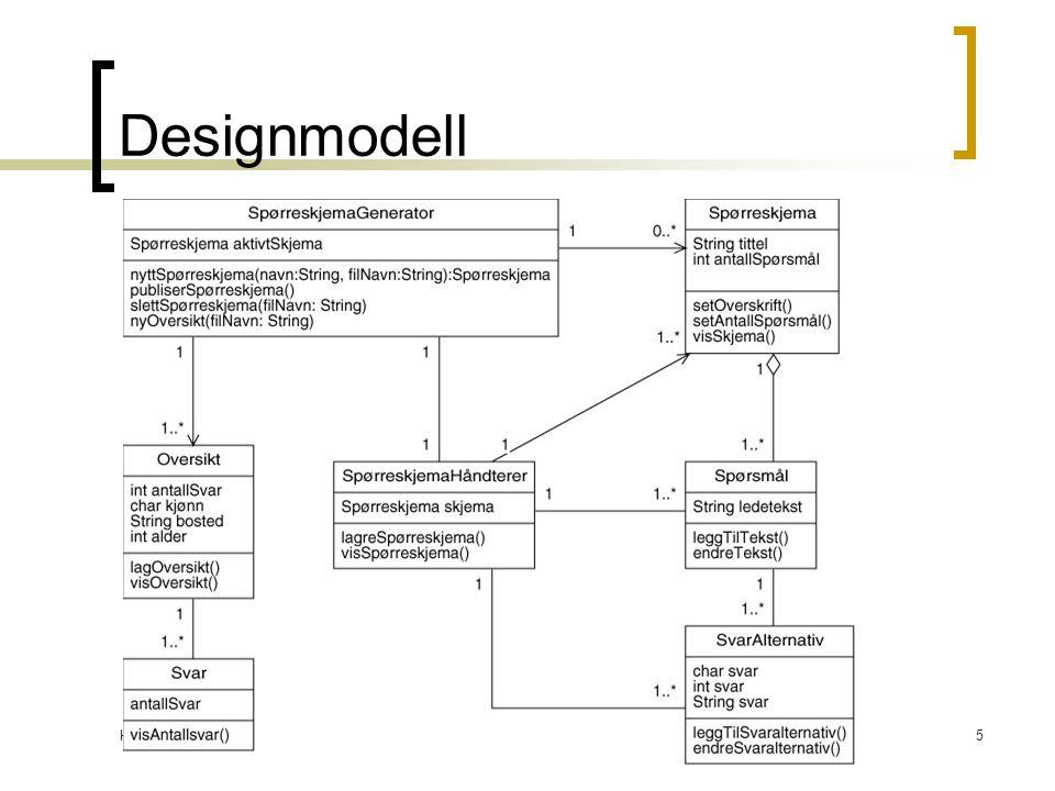 Kirsten Ribu HiO 20056 Objektdesign: Ansvarstilordning UML definerer ansvar som en 'kontrakt' i en klasse Ansvar er knyttet til objektet i form av dets oppførsel  Handling: Opprette objekt, beregning  Kunnskap: Vite om private data, vite om relaterte objekter Ansvar er ikke det samme som metoder, men metoder implementeres for å oppfylle ansvaret Ansvarstilordning: En utfordring under utforming av sekvens-diagrammer