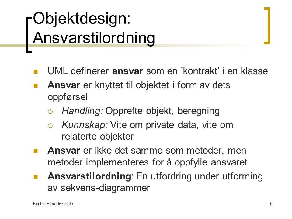 Kirsten Ribu HiO 200517 Mønster for klassediagram