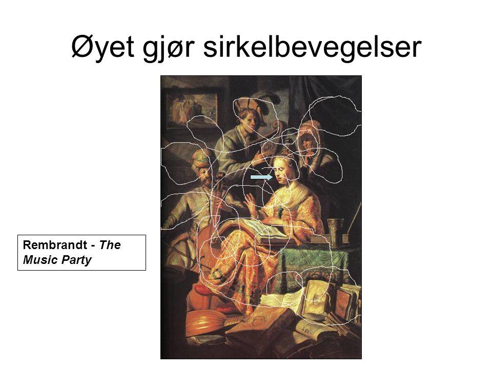 Øyet gjør sirkelbevegelser Rembrandt - The Music Party