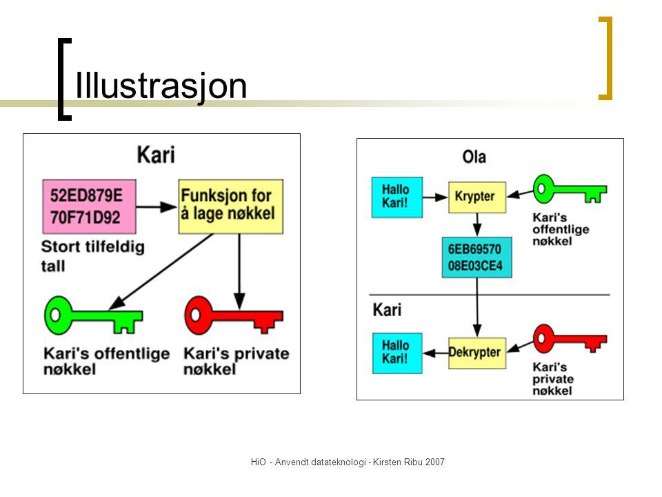 HiO - Anvendt datateknologi - Kirsten Ribu 2007 Illustrasjon