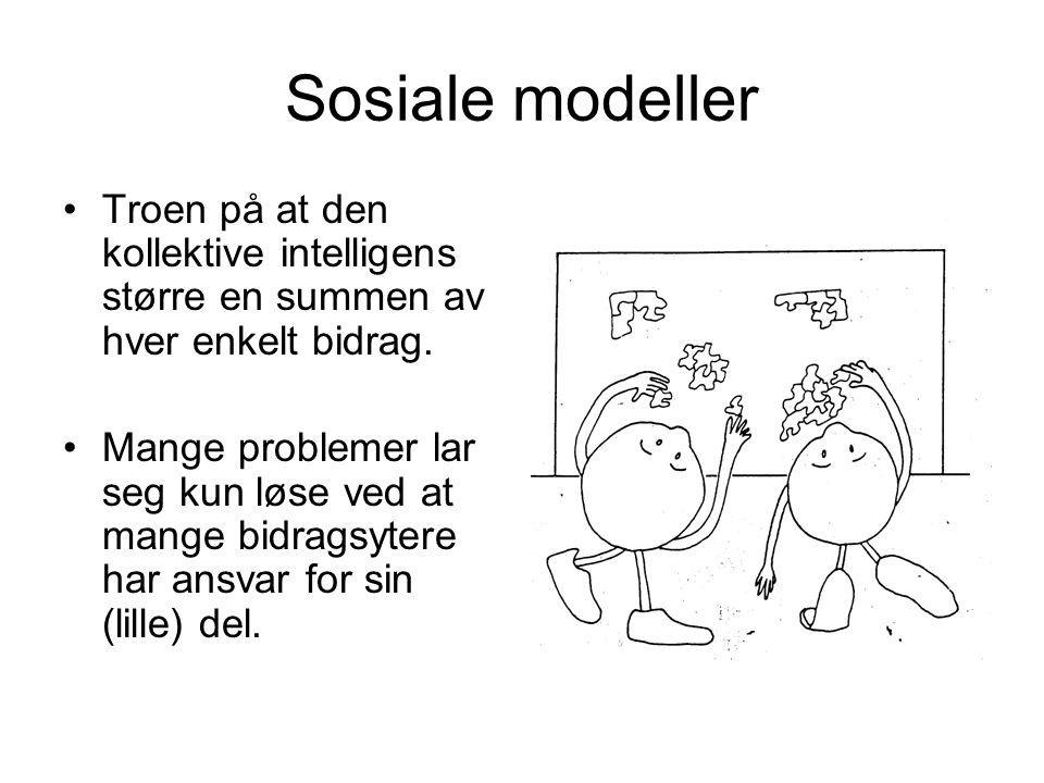 Sosiale modeller Troen på at den kollektive intelligens større en summen av hver enkelt bidrag.