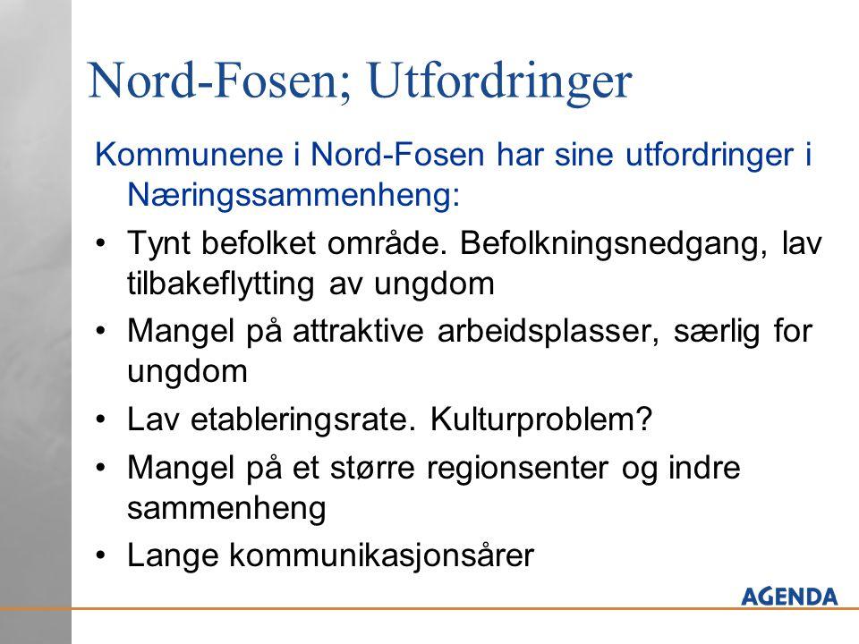 Nord-Fosen; Utfordringer Kommunene i Nord-Fosen har sine utfordringer i Næringssammenheng: Tynt befolket område.