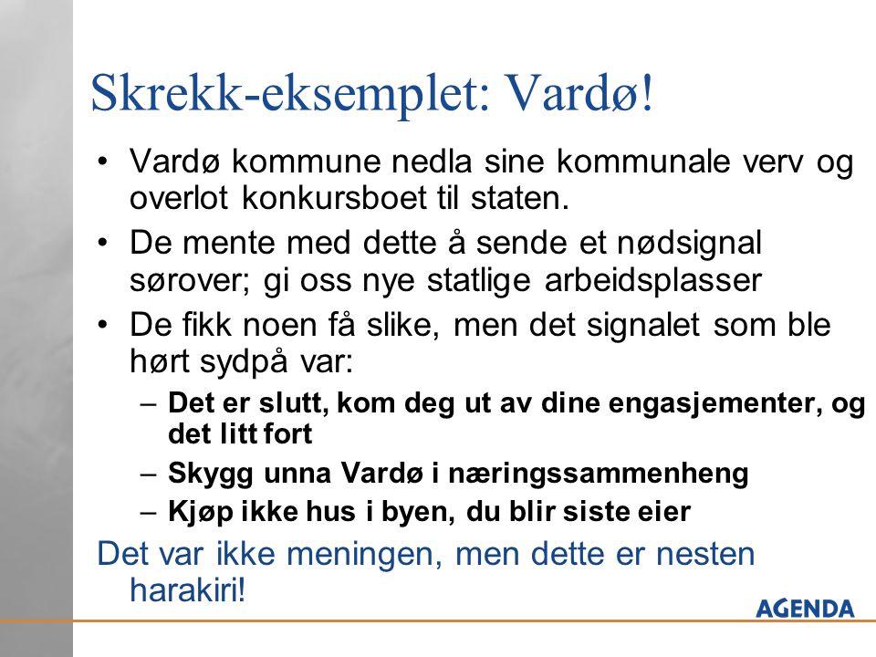 Skrekk-eksemplet: Vardø.Vardø kommune nedla sine kommunale verv og overlot konkursboet til staten.