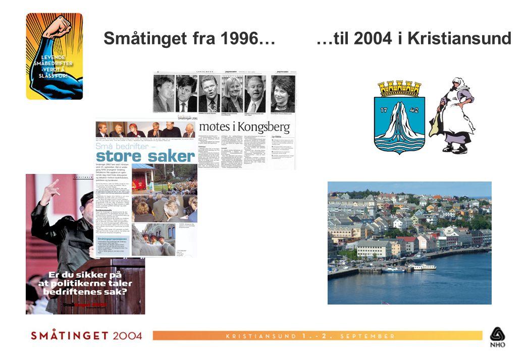 Småtinget fra 1996… …til 2004 i Kristiansund
