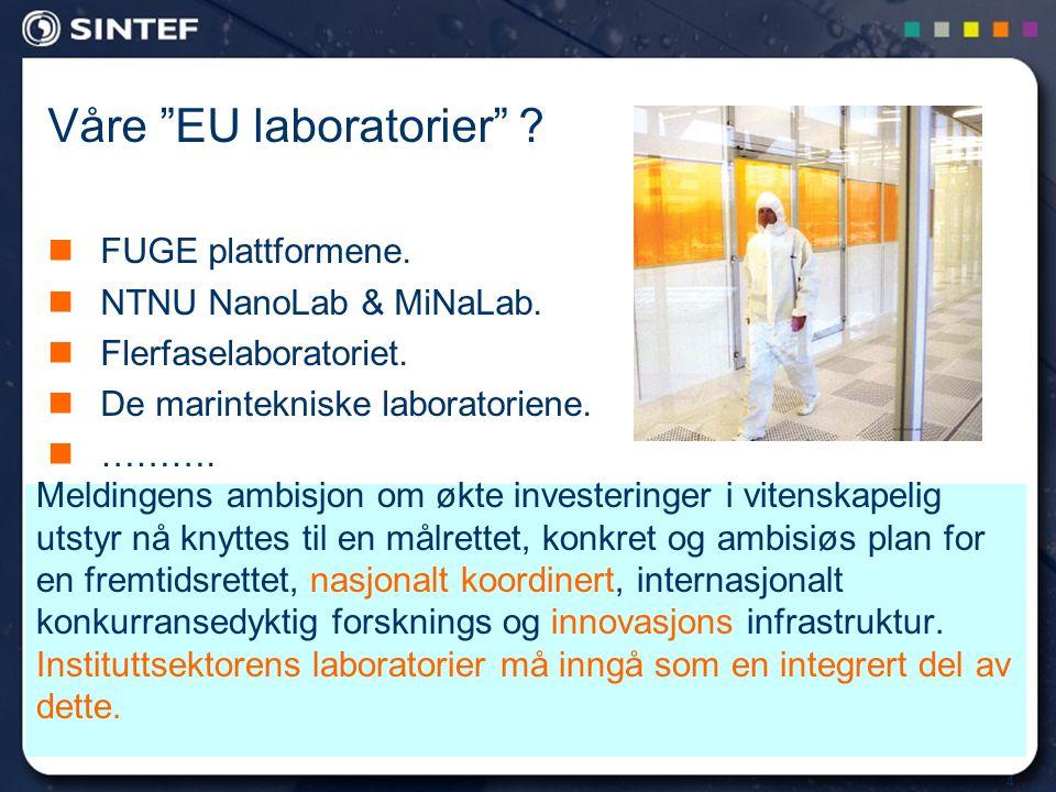 4 Meldingens ambisjon om økte investeringer i vitenskapelig utstyr nå knyttes til en målrettet, konkret og ambisiøs plan for en fremtidsrettet, nasjon