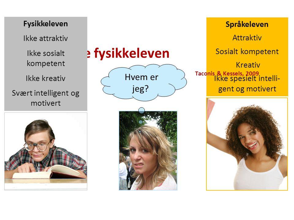 Språkeleven Attraktiv Sosialt kompetent Kreativ Ikke spesielt intelli- gent og motivert Hvem er jeg.