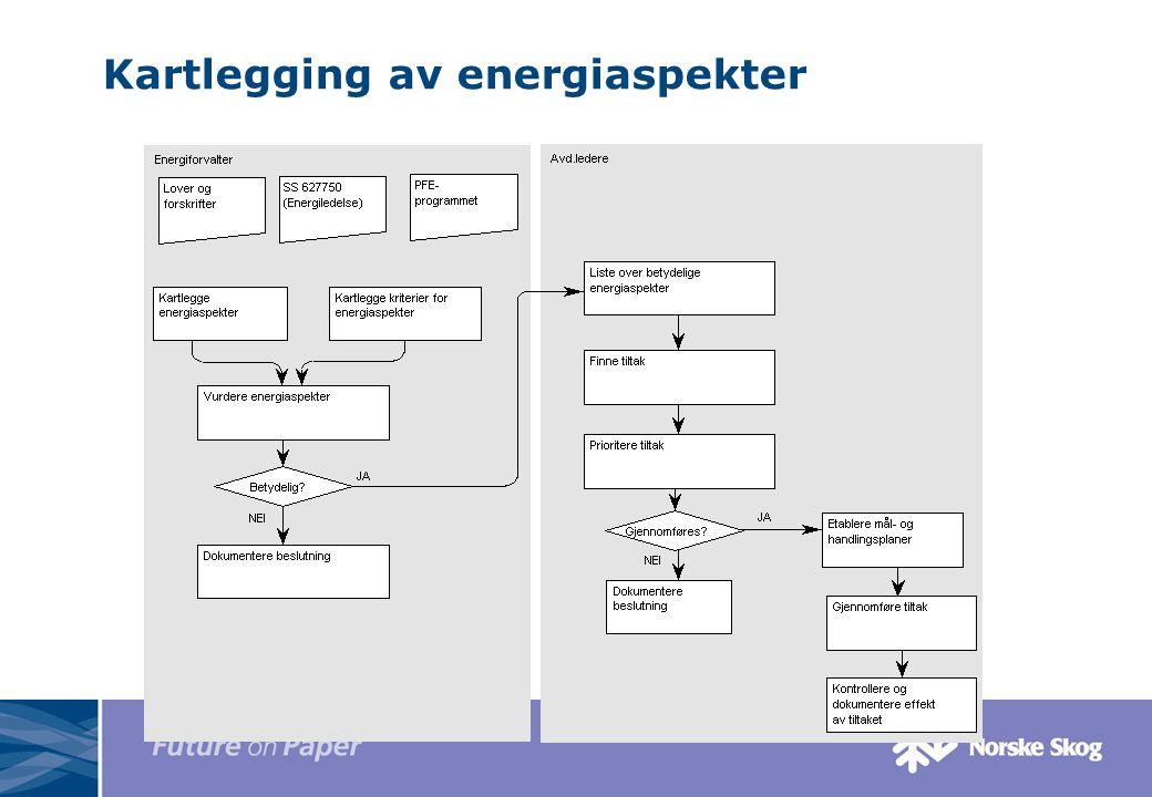 Kartlegging av energiaspekter