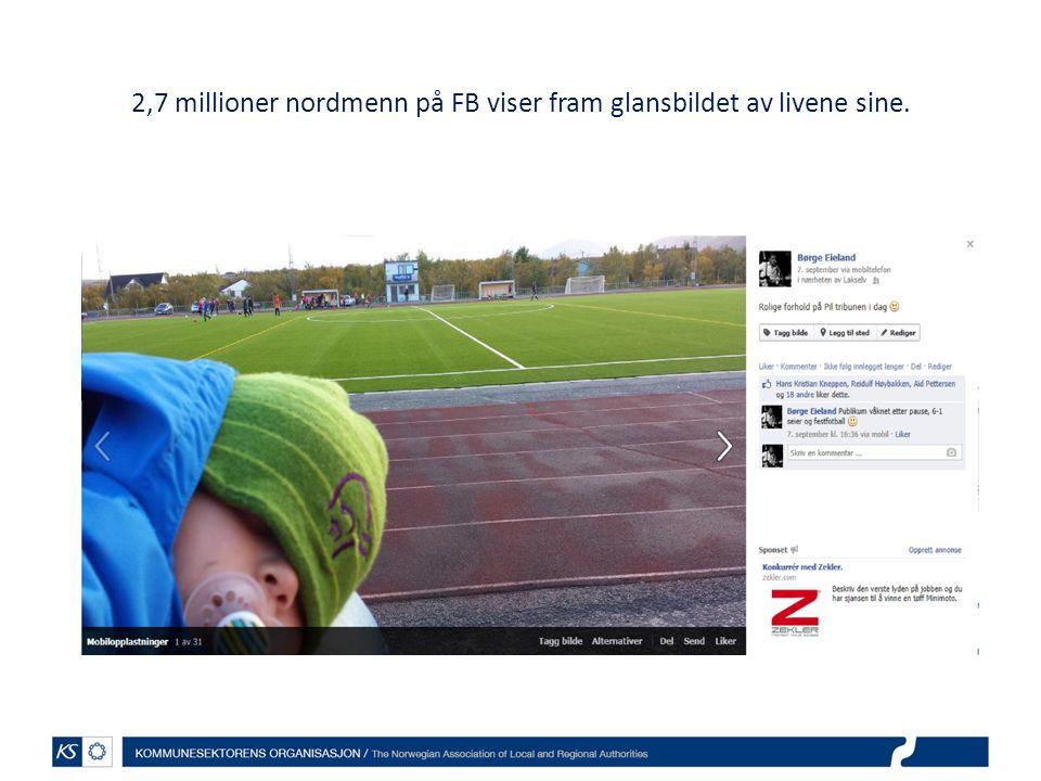 2,7 millioner nordmenn på FB viser fram glansbildet av livene sine.