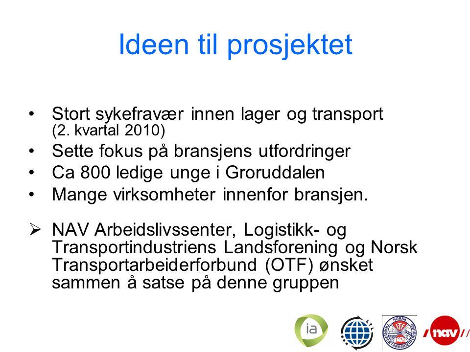 Ideen til prosjektet Stort sykefravær innen lager og transport (2.