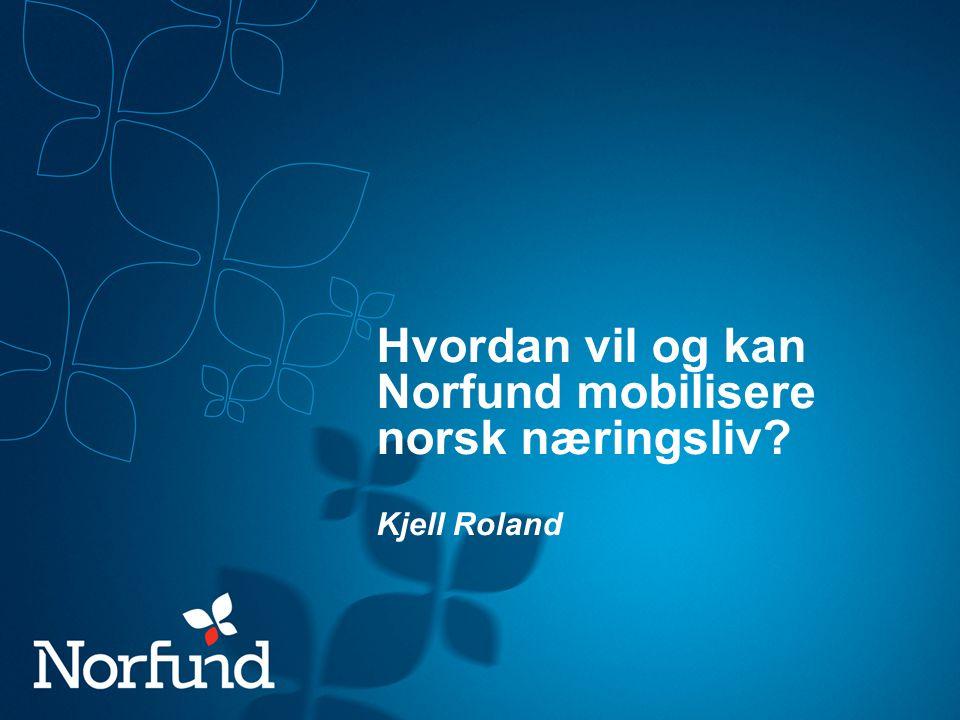 Hvordan vil og kan Norfund mobilisere norsk næringsliv? Kjell Roland