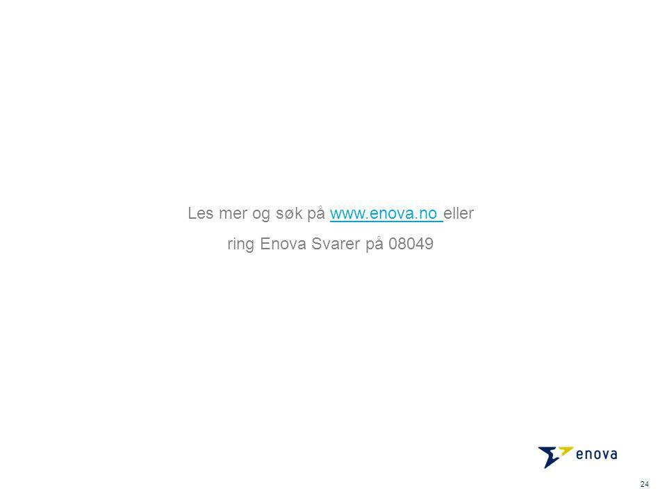 Les mer og søk på www.enova.no ellerwww.enova.no ring Enova Svarer på 08049 24