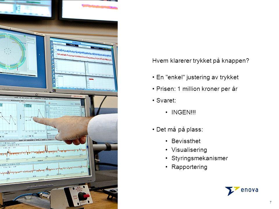 7 En enkel justering av trykket Prisen: 1 million kroner per år Svaret: INGEN!!.