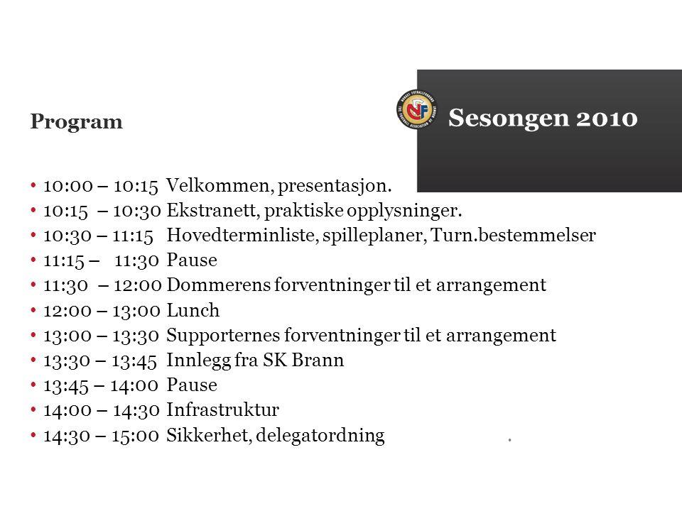 Program 10:00 – 10:15Velkommen, presentasjon. 10:15 – 10:30Ekstranett, praktiske opplysninger.