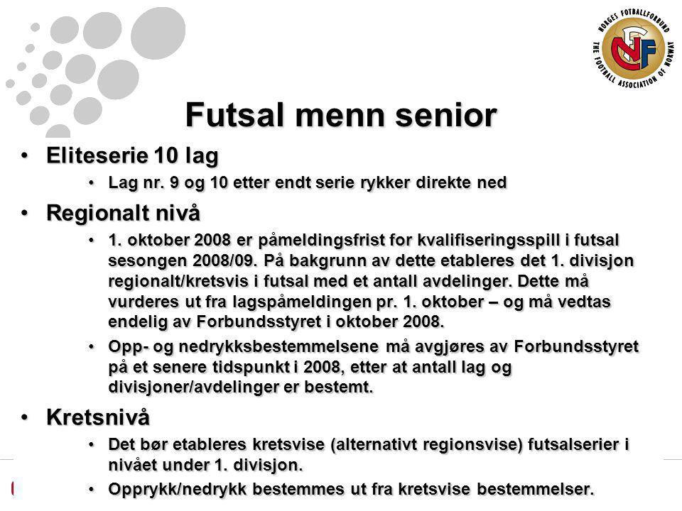 Futsal menn senior Eliteserie 10 lagEliteserie 10 lag Lag nr.