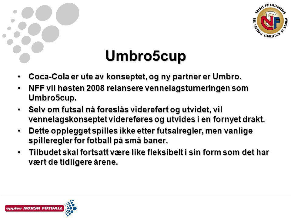 Umbro5cup Coca-Cola er ute av konseptet, og ny partner er Umbro.Coca-Cola er ute av konseptet, og ny partner er Umbro.